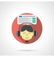 Online training color detailed icon vector image
