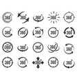 panoramic 360 icons vector image vector image