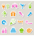 Party and Celebration icon set vector image vector image