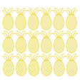 pineapples fresh fruits pattern vector image