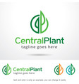 plant logo template vector image