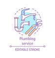 plumbing service concept icon home service idea vector image