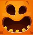 pumpkin horror fear happy vector image vector image