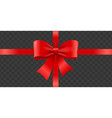 realistic detailed 3d shiny red gift satin ribbon vector image vector image