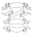 ribbon banners hand drawn sketch vector image vector image