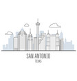 san antonio city skyline - skyscrapers and vector image vector image