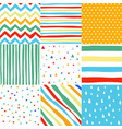 seamless patterns with fabric textures vector image vector image