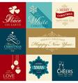 Set of flat Christmas icons vector image vector image