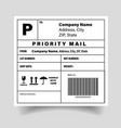 shipping barcode label sticker template vector image vector image