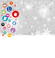 Shopping icon design on christmas background vector image vector image