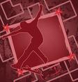 skateboarder vintage frame vector image vector image
