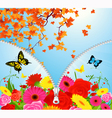 Summer autumn season change vector image vector image