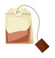 tea bag food adversting icon vector image