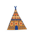 tribal teepee tent boho style design element vector image vector image