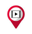video player social media round pointer we vector image