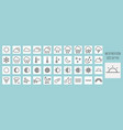 weather forecast line icons set vector image