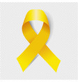 yellow ribbon isolated transparent background vector image