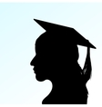 young girl with Mortar Board vector image