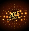 2016 greeting design in golden style vector image vector image