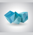 3d blue glass or ice cubes vector image vector image