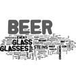 a look back at beer vessels text word cloud vector image vector image