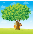 animals under tree vector image vector image