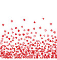 background of random falling hearts vector image vector image