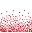 background random falling hearts vector image vector image