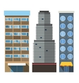 buildings set skyscrappers small house vector image