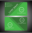 business card on green 0003 vector image vector image