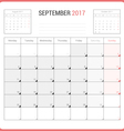 Calendar Planner for September 2017 vector image vector image