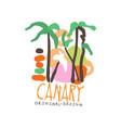 canary island logo template original design vector image vector image