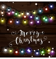 Christmas lights poster with shining and glowing vector image