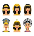 Cleopatra Egyptian Queen vector image vector image