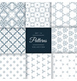 collection of vintage style pattern design vector image vector image