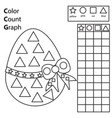 color count and graph educational children game vector image vector image