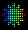 colored pixel sun icon vector image