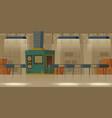 conveyor belt in factory manufacture room plant vector image