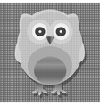 cute metal owl vector image vector image