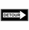 detour traffic sign vector image vector image