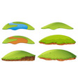 different shapes of island vector image vector image