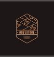 emblem desert landscape adventure explore logo vector image vector image