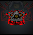 executioner logo template vector image vector image