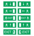 Fire exit vector image vector image