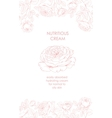 Flower garland and invitation card vector image