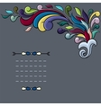 Funky design with bright cartoon swirls vector image