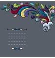 Funky design with bright cartoon swirls