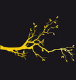 gold tree branch with leaves vector image vector image