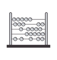 gray silhouette abacus with base and spheres vector image