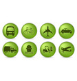 green transport icons vector image vector image